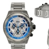 Weil And Harburg Thornton Chronograph Mens Watch Silver/Blue