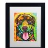 Dean Russo 'Rottie Pup' Matted Black Framed Art