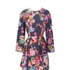 Women's Floral Printed Round Neck Long Sleeve Pullover Dresses