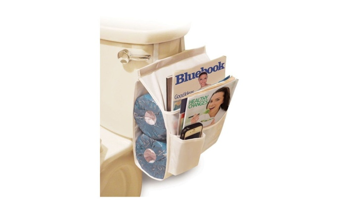 Caddy Magazine Holder Bathroom Organizer Toilet Paper Hanging Bath | Groupon