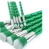 10 PCS Green Bamboo Handle  Makeup Brush Set Gift