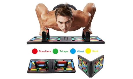 Zummy 9 in 1 Push Up Rack Board System Fitness Workout Train Gym Exercise