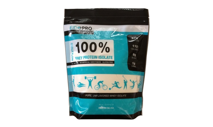 Eidopro Protein Powder 100 Pure Whey Unflavored 1 Lb Bag