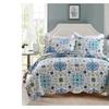 100% Cotton Blue Morocco Printing Quilt Set 3 Piece Bedding Set,Bedspr
