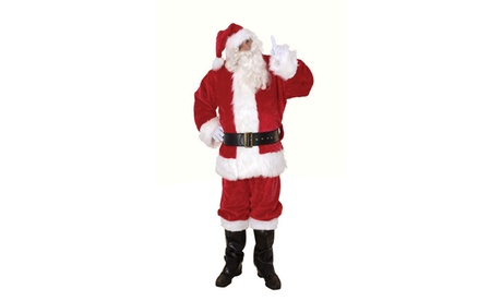 Men's Ultra Deluxe Santa Claus Suit Costume Set X-Large Red dc26cf38-e9fa-4c79-9012-4b48cdfdd19b