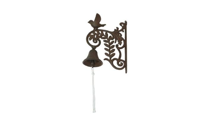 Cast Iron Wall Mount Bird Bell Indoor Or Outdoor