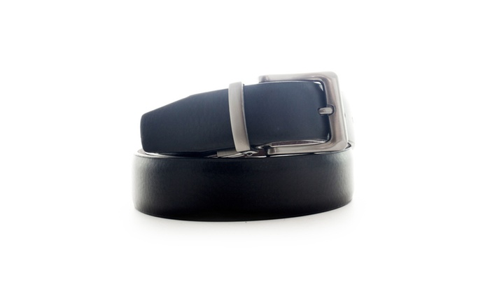 Faddism Men's Genuine Leather Reversible Belt