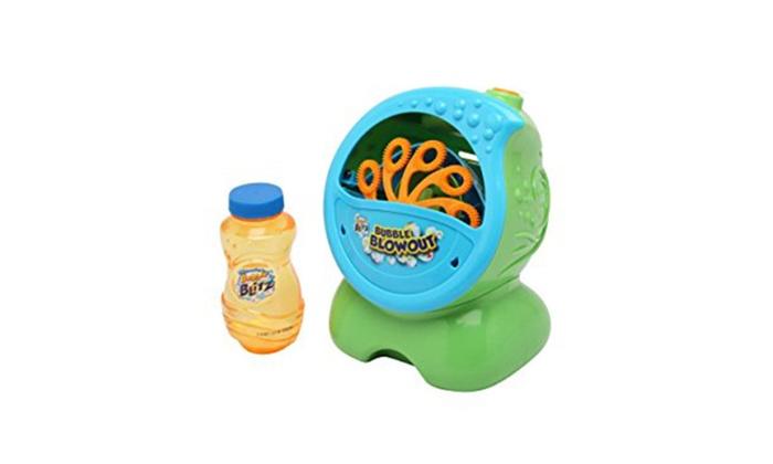 Imperial Toy Bubble Blitz Bubble Blowout Party Machine Groupon