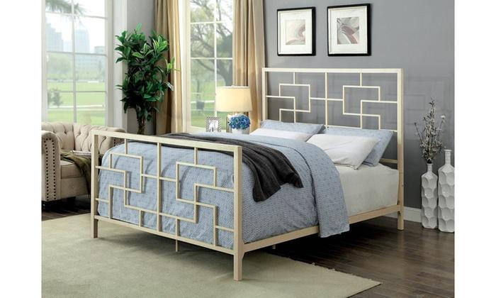 Super Furniture Of America Weston Modern Geometric Platform Bed Home Interior And Landscaping Ologienasavecom