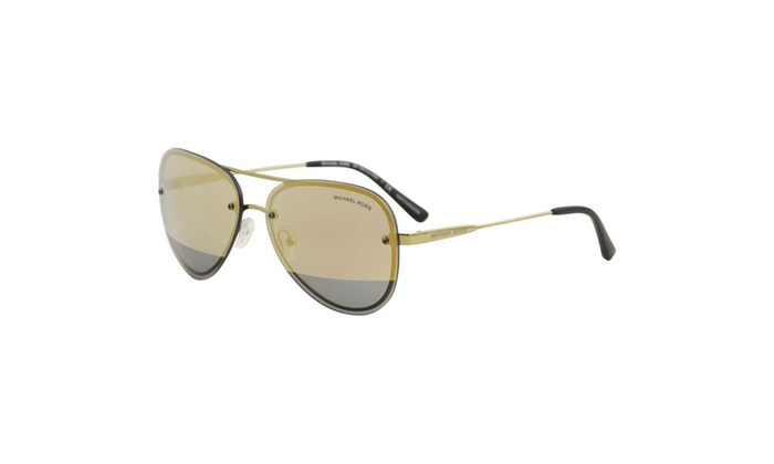 c10b91c02eaf Michael Kors Sunglasses MK1026 11681Z Gold Yellow Aviator La Jolla 59mm