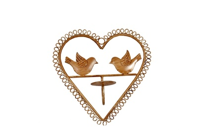 Heart Shaped Twin Birds Decorative Candlesticks Holder for Home Decor ebb60b23-df63-4888-a33f-b8eee2782a87