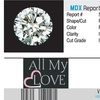 Certified 1/2 CTTW Diamond Star Engagement Ring In 14K White Gold By All My Love