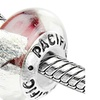 Sterling Silver 'Livin' It Up' Murano-style Glass Bead