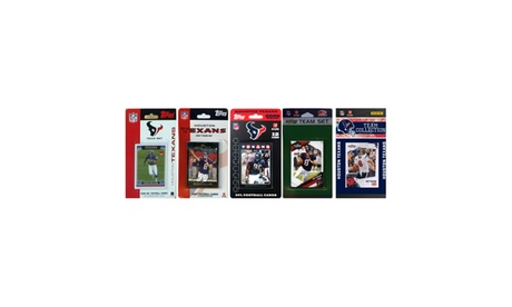 NFL Houston Texans 5 Different Licensed Trading Card Team Sets 6bc5c34d-0a4c-4ade-8898-0a77a79b173d