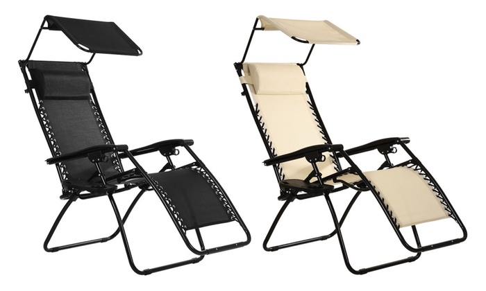 Charmant Ollieroo Zero Gravity Canopy Sunshade Lounge Chair ...