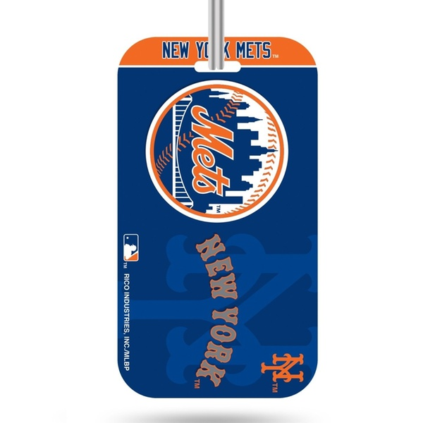 960458dcc80 New York Mets Logo Luggage Tag Crystal View Suitcase ID