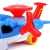 Light Show Aviator Battery Operated Kid's Bump and Go Toy Plane