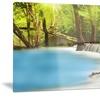 View of Huai Mae Kamin Waterfall Photo Metal Wall Art 28x12