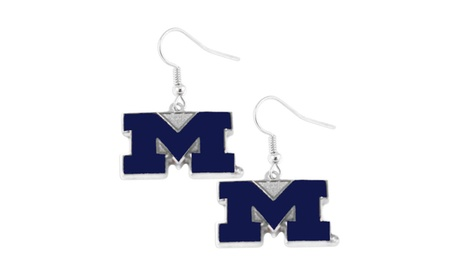 Michigan Wolverines Dangle Logo Earring Set NCAA Charm Gift 32e04bd0-6a91-4197-a444-f7e518b9f83b