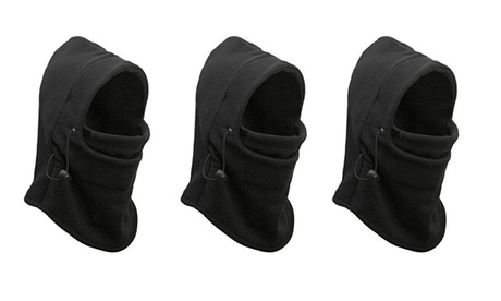 Camper Warm Zero Degree Thermal Fleece Balaclava Hood with Drawstring (3 Pack) f3b0f422-2f00-43a5-9cbd-9d2f9aee7b7a