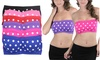 6-Pack Women's Polka Dot Bandeau Padded Tube Bras