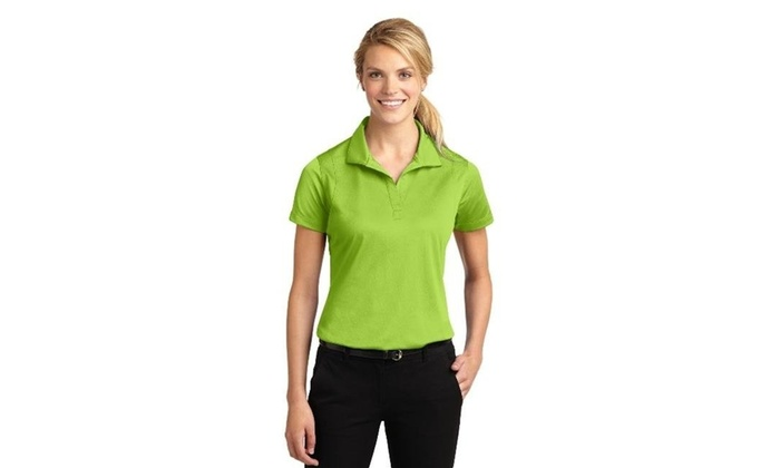 95ad552ac Sport-Tek LST650 Ladies Micropique Sport-Wick Polo Lime Shock - 4XL |  Groupon