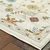 LR Home Gala Transitional Floral Cream Multi Rectangle Indoor Area Rug