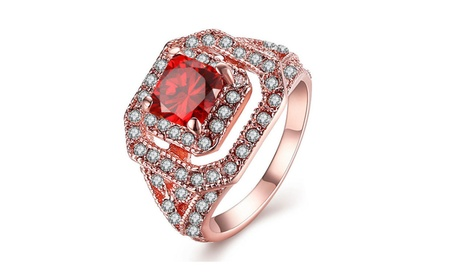 Environmental protection Rose gold ring red diamond ring a98c082c-eb98-4fe1-ad43-3a52736eea18