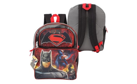 "DC Comics Batman v Superman Cargo Backpack - 16""H 9c8e29c4-467e-40c8-86bf-f6ed72b7da7d"