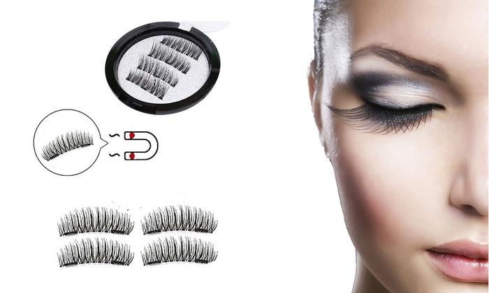 e99144c4b6c Up To 80% Off on 4pcs Magnetic False Eyelashes... | Groupon Goods