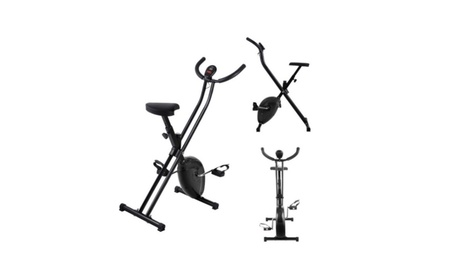 Folding Exercise Bike Home Magnetic Blocks Trainer Fitness Stationary 657d50b0-dfc9-46d5-a5fb-3f9bc567164b