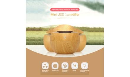 Air Aroma Humidifier Wood LED Grain Aromatherapy Mini Humidifier