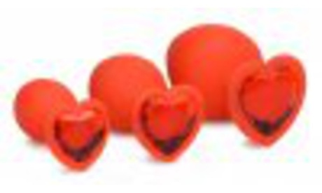Red Hearts Silicone Anal Plug Set (3-Piece) a0601c8d-5fda-43ca-b0db-75f374d04bf6