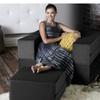 Jaxx- Zipline Convertible Sleeper Chair & Ottoman (Twin-Size Bed)