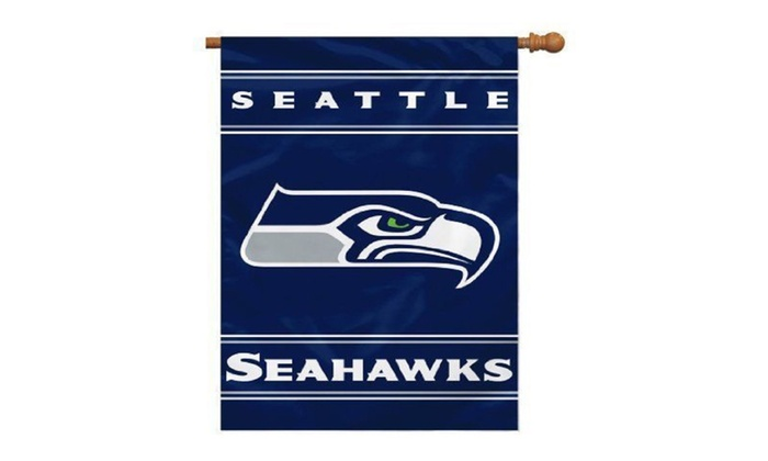Seattle Seahawks 2-Sided 28 X 40 Banner – NFL License Item