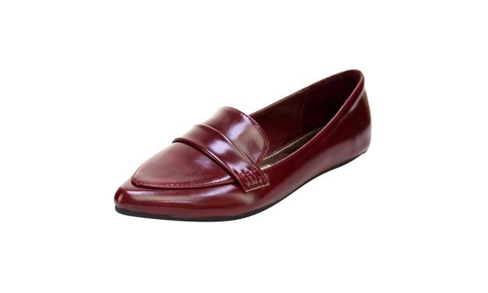 Beston  AC31 Women's Slip On Casual Low Heel Loafer Flats