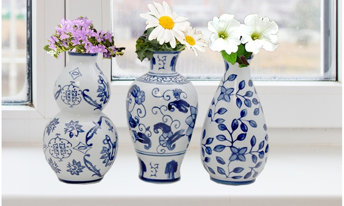 Ceramic Vase Set 3 Piece Groupon