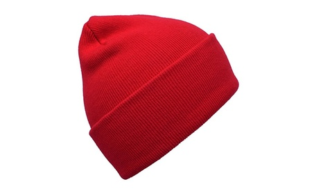 Unisex Cuff Warm Winter Hat Knit Plain Skull Beanie Knit Cap ccac4add-4e7d-4582-a998-bfbd556b33a7