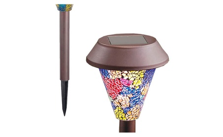 Superior Mosaic Design Pathway Solar Powered Lights For Outdoor 366fa745-4010-4b04-b7eb-e7215b119dce