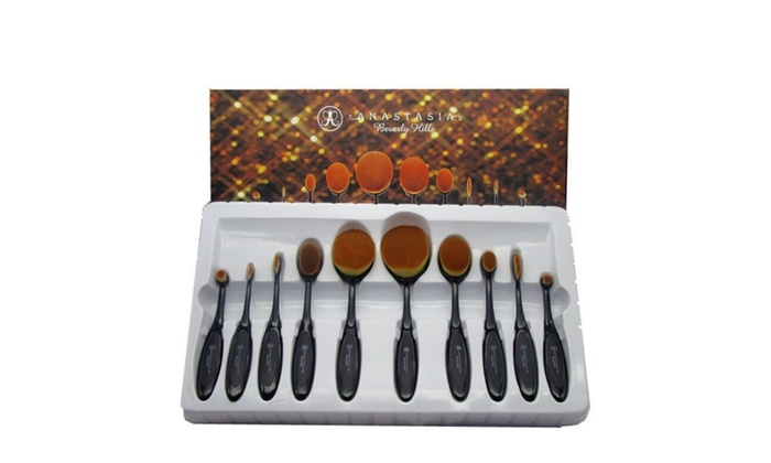 anastasia brush kit. anastasia beverly hills 10 piece professional oval brush set kit