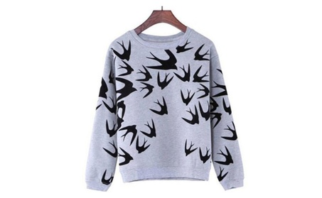 Women Long Sleeved Sweater Printed Thickening Pullover Shirt d78dc4e3-33b2-45cf-8ab2-042d53d667ed