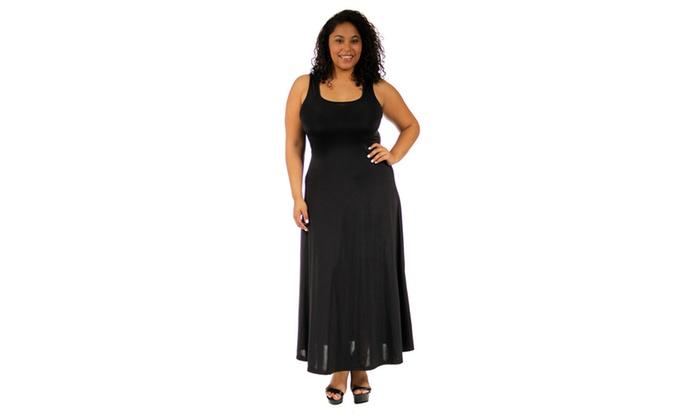 5db0c1f8e9c 24 7 Comfort Apparel Women s Plus-Size Scoop-Neck Tank Maxi Dress ...