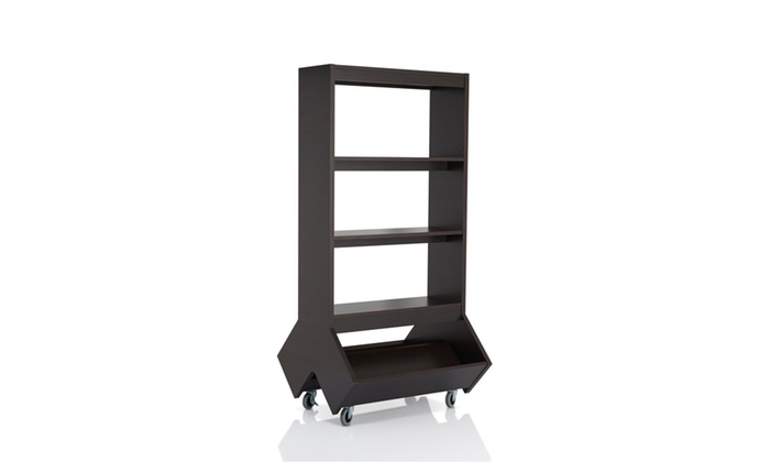 Ballew Espresso Double Sided Bookshelf Room Divider
