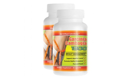 Garcinia Cambogia Extract 60% HCA Weight Loss Diet Pills - 2 Bottles