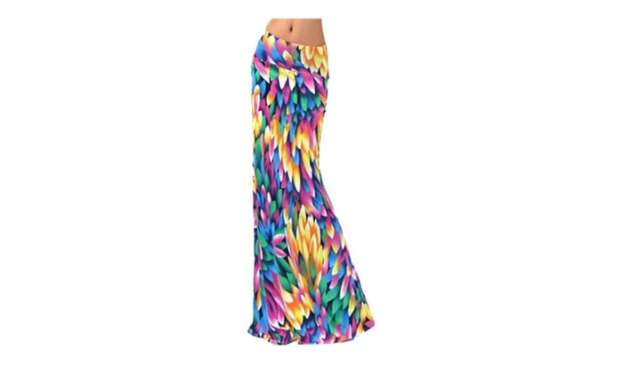 Shefetch Women's Elegant Tiered Ruffles Mermaid Midi Skirt