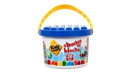 Toy Blocks In Bucket 20pc 099fbe46-223f-4a89-8880-c225b21b60d4