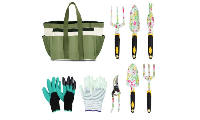 Up To 76 Off On Garden Tool Set Floral Print Groupon Goods