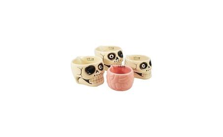 New Halloween Skull and Brains Cup Set of 4 Home Decor bfa93c1e-de66-4977-b3c8-5d3511c43737