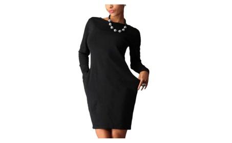Women Long Sleeves Short Side Pockets Club Dress - ZWWD385-ZWWD386 4b349dd1-e062-4699-9483-211fa0bc7ebf