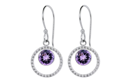 Orchid Jewelry Silver Overlay 2 1/4 Carat Genuine Amethyst Earrings c4be4908-acdc-47bb-8ad6-d34dad69d953